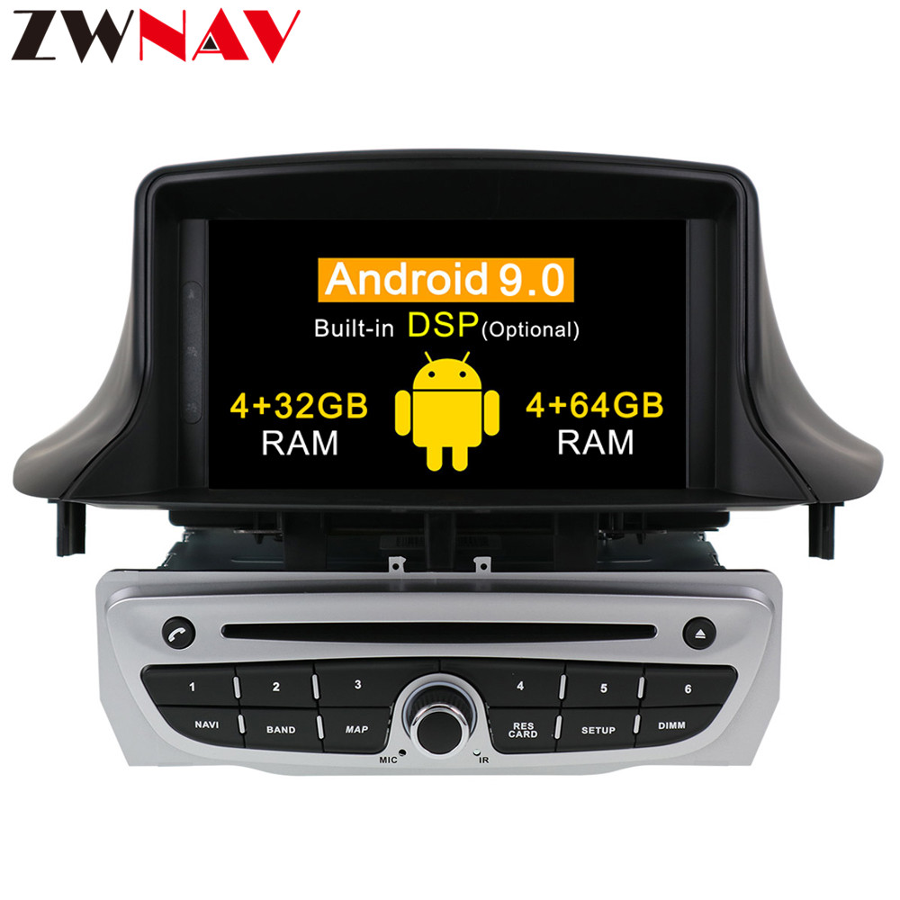 IPS 2+16 <font><b>Android</b></font> 9.0 Car Radio DVD Player Multimedia Stereo For Renault <font><b>Megane</b></font> <font><b>3</b></font> Fluence 2009-2015 WIFI BT Video GPS Navigation image