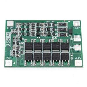 Image 2 - 10 adet 3S 40A Li ion lityum pil şarj cihazı koruma levhası PCB BMS 40A akım matkap Motor 11.1V 12.6V lipo hücre modülü