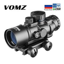 Tactical 3.5X30 RGB laser sight dot red Tri-Illuminated Combo Compact Scope Fiber Optics Green Sight air telescopic gunsight riflescope tri 1 4x24 e rail red green illuminated tactical optics hunting shooting rifle scope