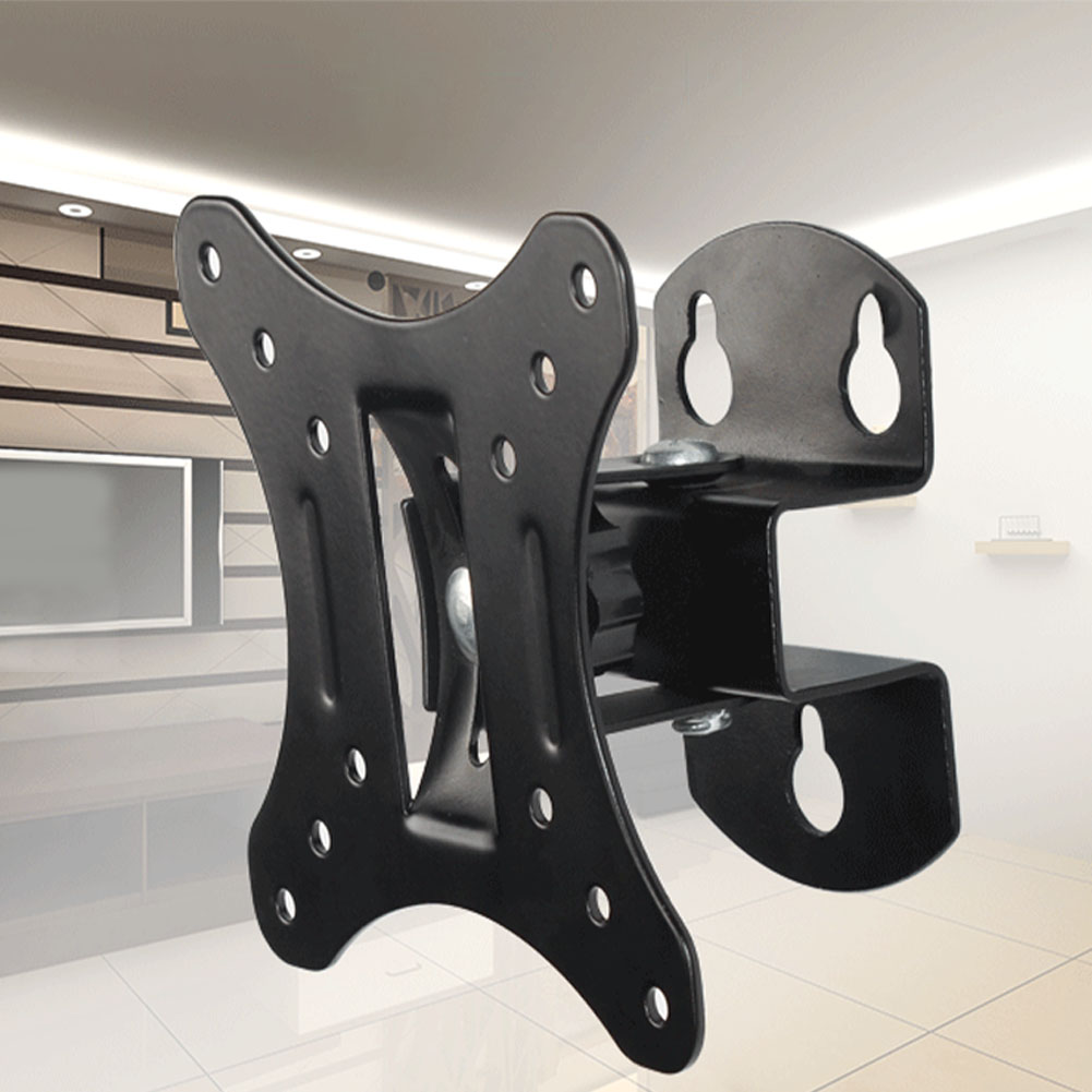 Monitor Stand Hanging Stable Wall Mount Tilt Swivel Home Living Room Strong Bearing Steel 12-26inch Universal TV Bracket