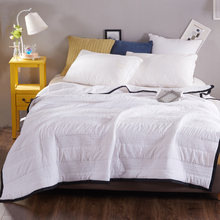 Home Textile Summer Quilts Patchwork Throw Blanket  Washed Cotton Duvet Grey Bedspread Bed Linens Beige White