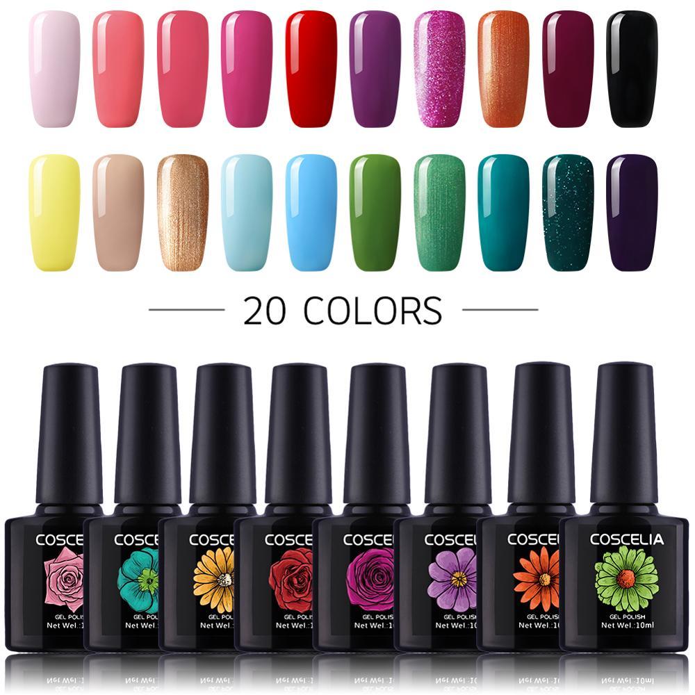 20pc/Set 80 COLORS Gel Nail Polish Kit Nail Art UV LED Gel Set For Manicure Long Lasting Gel Nail Polish Kit Soak Off Varnishes