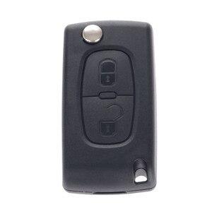 Image 5 - 2 przyciski Auto Flip składana obudowa pilota z kluczykiem samochodowym pokrowiec do citroena C2 C3 C5 pusty klucz zamienny klucz wejściowy Fob