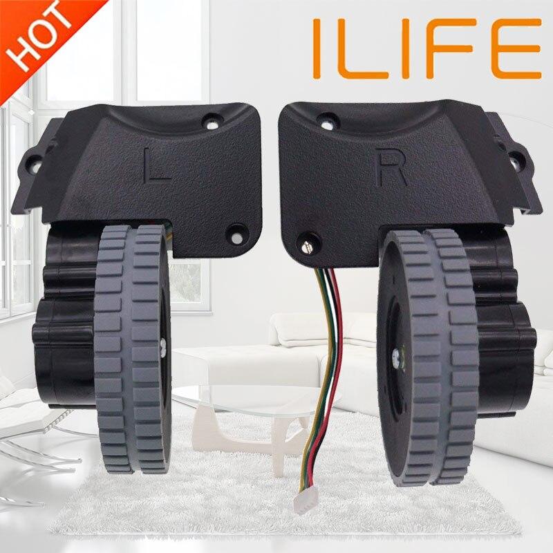 Rueda de piezas de robot aspirador accesorios para ilife A4 A4s A40 A8 T4 X430 X432 X431 aspiradora robot ruedas motores