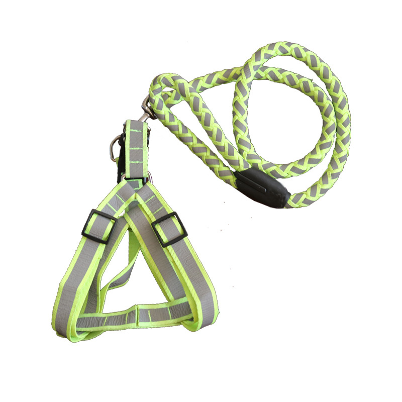 Dog Chain Small Dogs Poodle Traction Lanyard Sub-with Large Dog Golden Retriever Labrador Chest And Back Pet Rope Lanyard