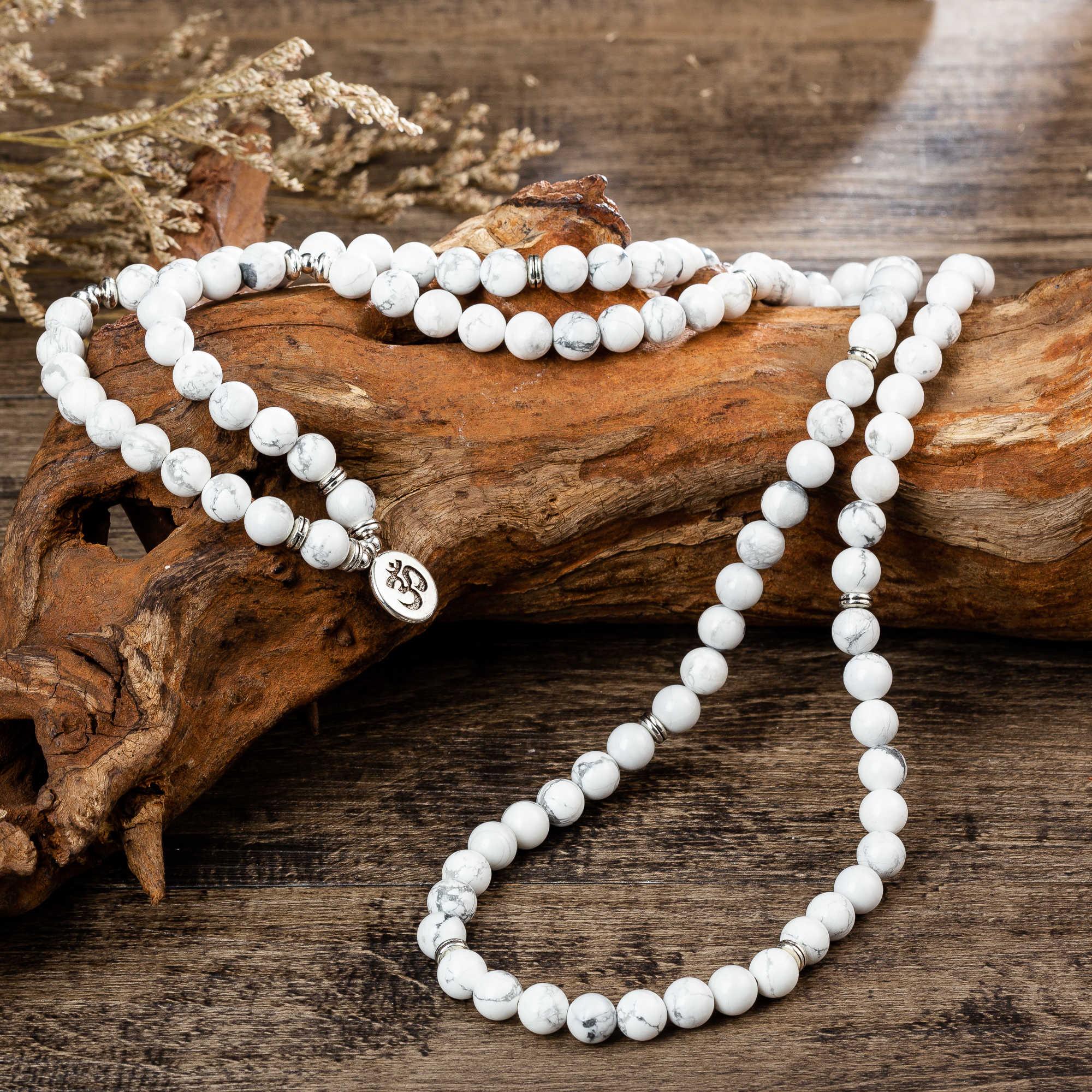 108 zroszony kamienie naturalne Mala budda lotos drzewo Chakra joga para Charmed rozciągliwe bransoletki ze sznurków