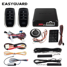 EASYGUARD pke keyless entry system start stop remote engine start stop car alarm system security alarm push start remote dc12v