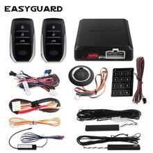 Sistema de entrada sin llave EASYGUARD pke, parada de arranque de motor a distancia, sistema de alarma para coche, alarma de seguridad, arranque por empuje, dc12v remoto