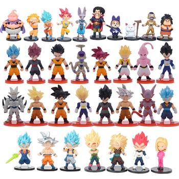 Hot toy Dragon Ball Z Super Saiyan Action Figure Son Goku Gohan Vegeta Vegetto Frieza Zamasu Ultra Model Toys Gift цена 2017