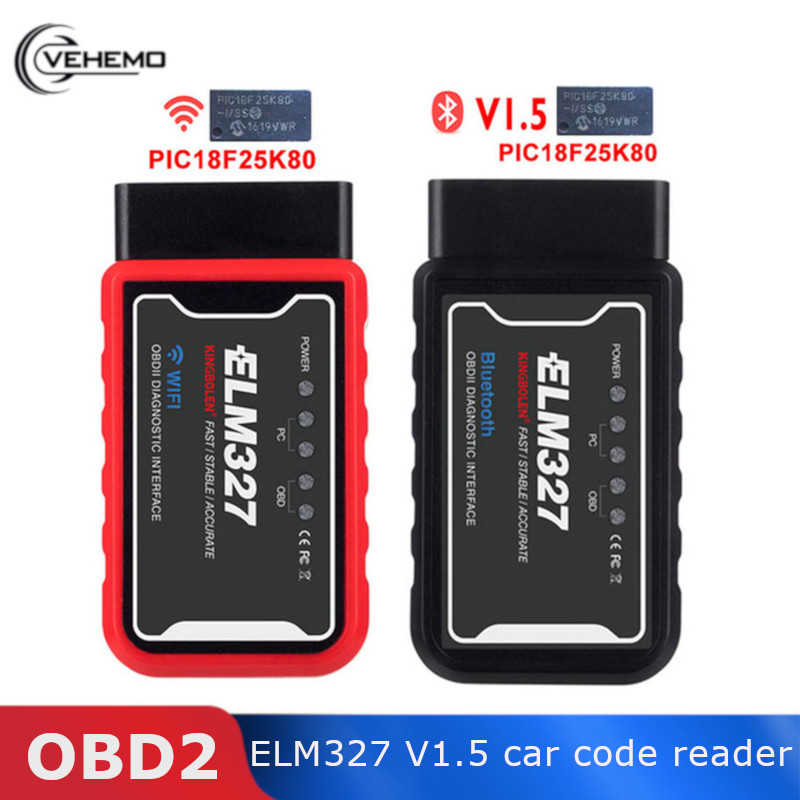 For IOS OBD2 Scanner Adapter Tool Diagnostic ELM327 Bluethooth V1.5 Autos Car Fault Code Reader Bluetooth Car Diagnostic Tool