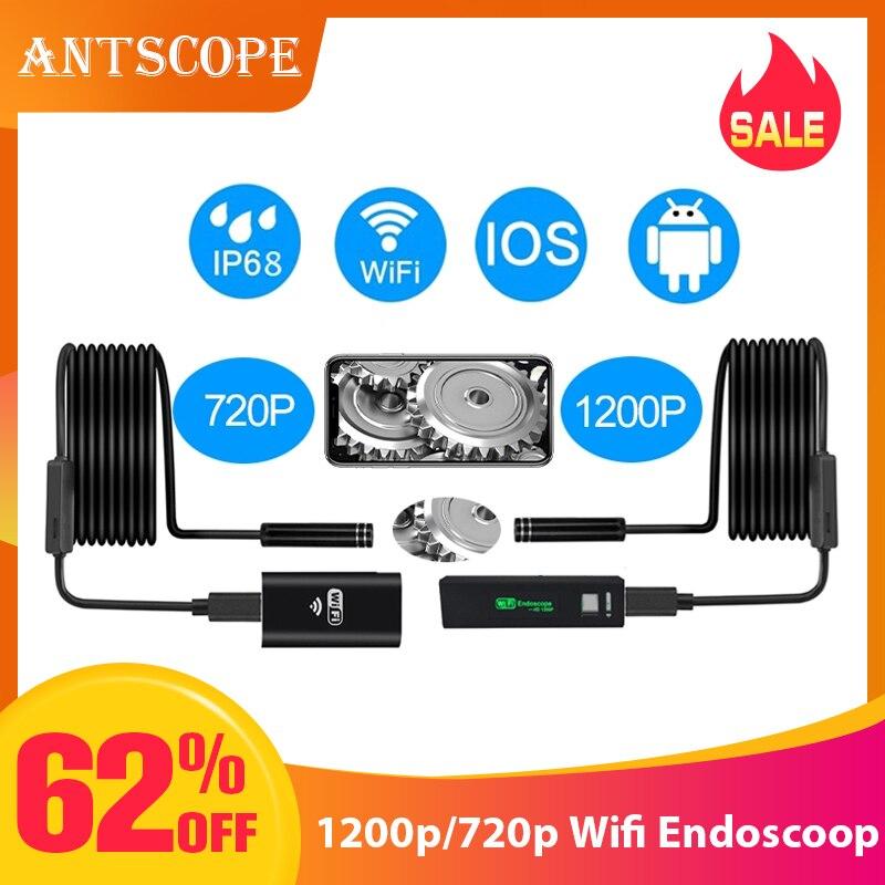Antscope 1200 p/720 p Wifi Endoscópio Endoscópio Camera para Iphone Android À Prova D' Água Câmera Endoscópica 8 milímetros soft/ tubo rígido iOS 40