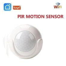 Мини WIFI PIR датчик движения Tuya Smart Life приложение встроенный аккумулятор датчик тела инфракрасный детектор домашняя сигнализация