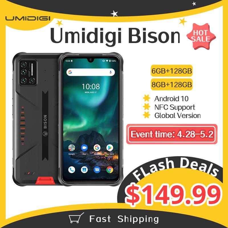 UMIDIGI BISON IP68/IP69K Waterproof Rugged Phone 48MP Matrix Quad Camera 6.3\