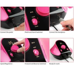Image 3 - 45W 35000RPM Electric Manicure Set Professional Drill Accessory Nail File Bit Manicure Machine Electric Nail File Ceramic Nail