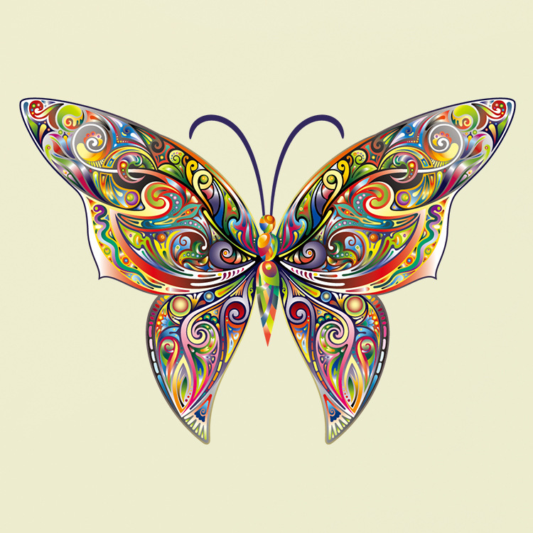Colorful Pattern Butterfly 3D Wall Art Decal Decoration Wall Stickers Decals Living Room Bedroom TV Sofa Background Decor Mural
