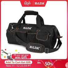 HILDA Tool Bags Waterproof Men canvas tool bag  Electrician Bag Hardware Large Capacity Bag Travel Bags Size 12 14 16 18 Inch