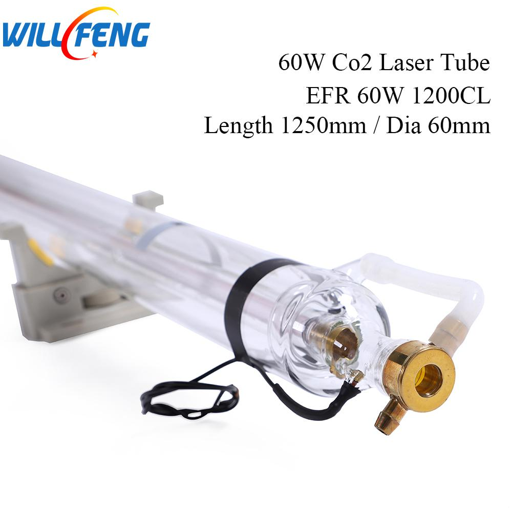 Will Feng 60W EFR 1200CL Co2 Laser Tube Length 1250mm Diameter 60mm For Laser Engraving Cutter Machine