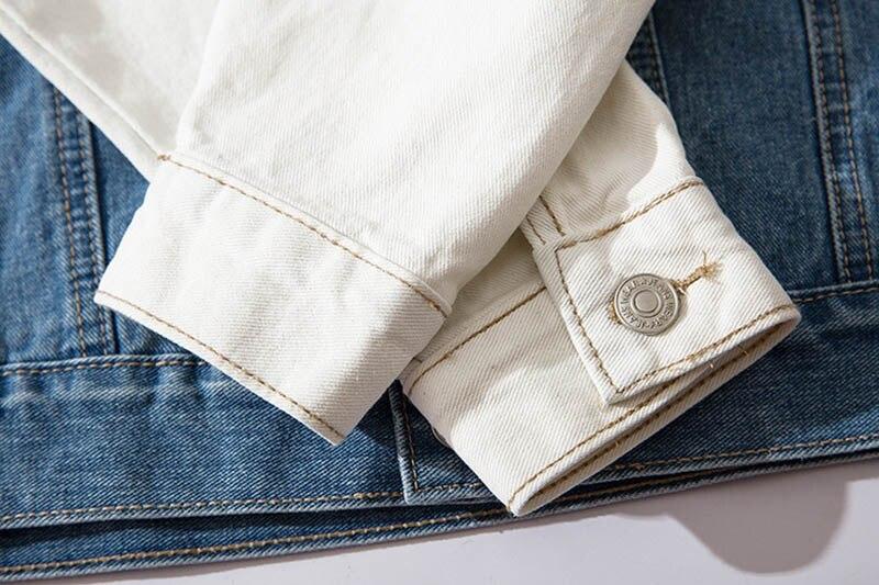 Mcikkny High Street Gradient Color Jeans Jackets Men Letter Graffiti Denim Jackets For Male Streetwear (9)