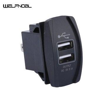 Universiry 12V-24V Mini Micro Dual USB Plug Car Motorcycle Cigarette Lighter Socket 5V 3.1A 4.2A Car Charger Waterproof dustproof waterproof 3 1a 5v dual double usb car cigarette lighter socket