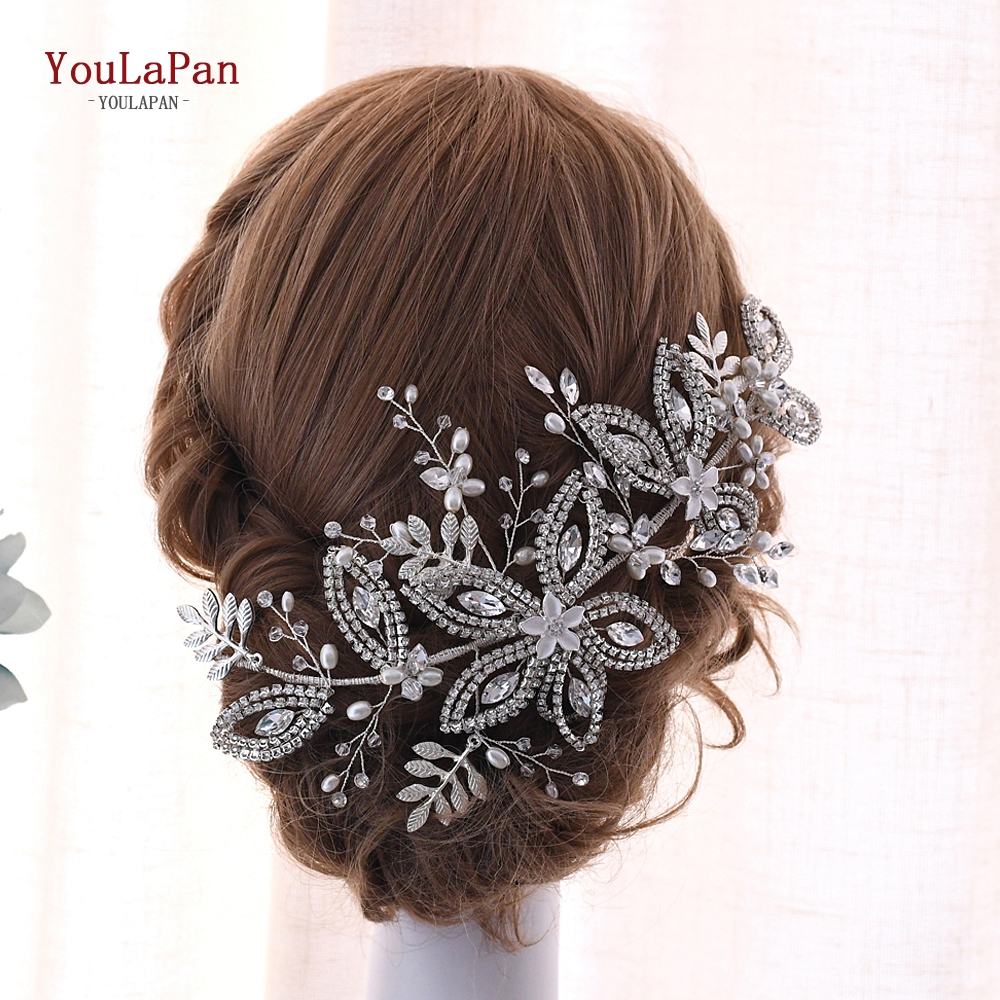TOPQUEEN High Quality Bridal Headband Crystal Bridal Hair Accessories For Woman Expensive Luxury Bridal Crown Hair Jewelry HP305