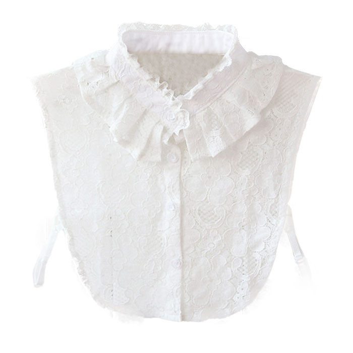 Best Selling 1PCS Women Lace Stand Collar Vintage Fake Shirt Collar Necklace Choker Collar White Stylish  @50
