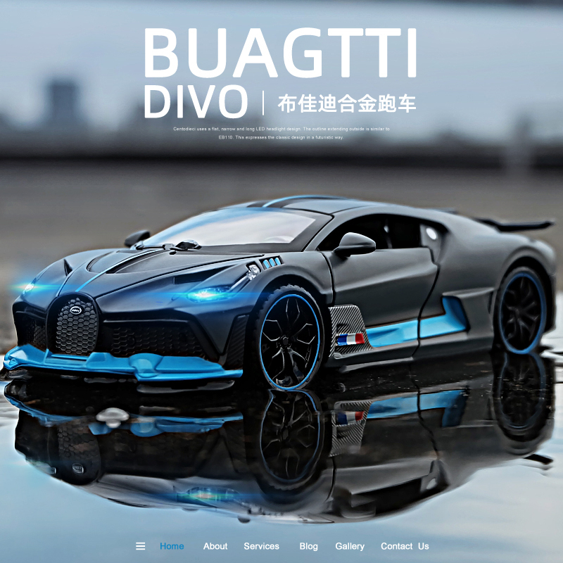 Free Shipping New 1 32 Bugatti Veyron divo Alloy Car Model Diecasts Toy Vehicles Toy Cars