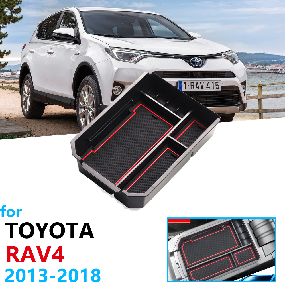 Car Organizer Accessories for Toyota RAV4 XA40 2013 2014 2015 2016 2017 2018 Armrest Box Storage RAV 4 XA 40 Coin Box Anti-Slip