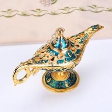 Световая лампа, украшение, европейский стиль, изысканные ремесла, желая лампа джинна, чайный горшок, ретро украшение для дома