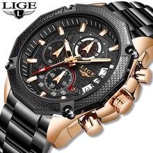 К 2020 году новые лиги модный бренд мужские часы полный стали бизнес кварцевые часы военные спортивные водонепроницаемые часы мужчины Relogio мужчина для