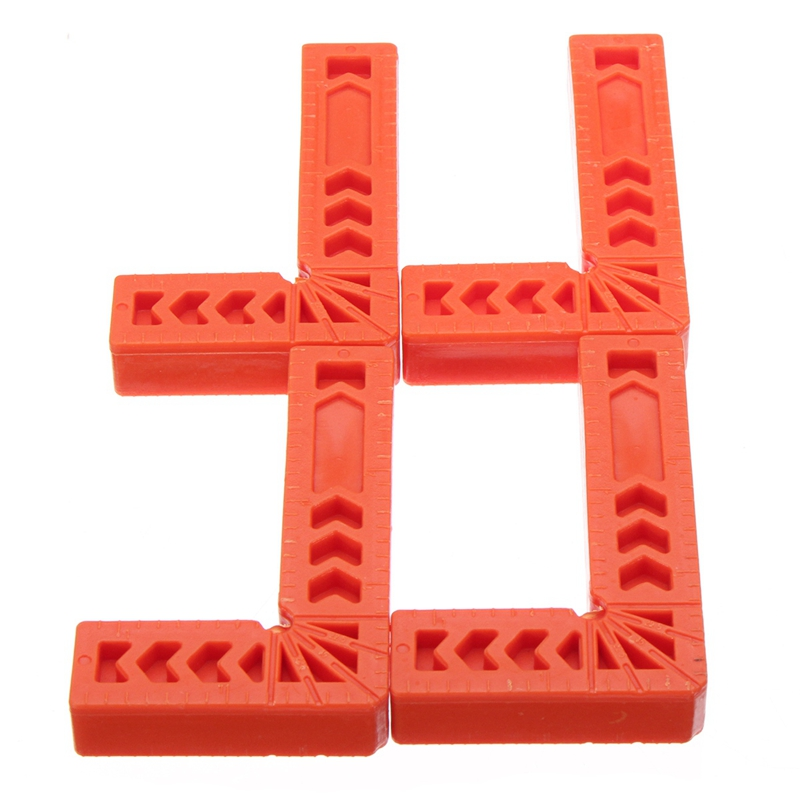 4Pcs 4 Inch 90 Degrees Right Angle Clamps Corner Clamp Ruler Clamping Square Woodworking Fixer Hand Tool L Shape Fixing Clip|Hand Tool Sets| |  - title=