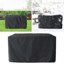 Черный чехол для патио 210D, ткань Оксфорд, Пылезащитный Водонепроницаемый квадратный Чехол для мебели для улицы, сада, двора