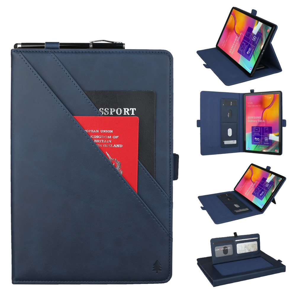 Tablet Case For Samsung Galaxy Tab A 10.1 T510 T5152019 New Leather Double Bracket Anti-Dirt Anti-Fingerprints Tablet Case