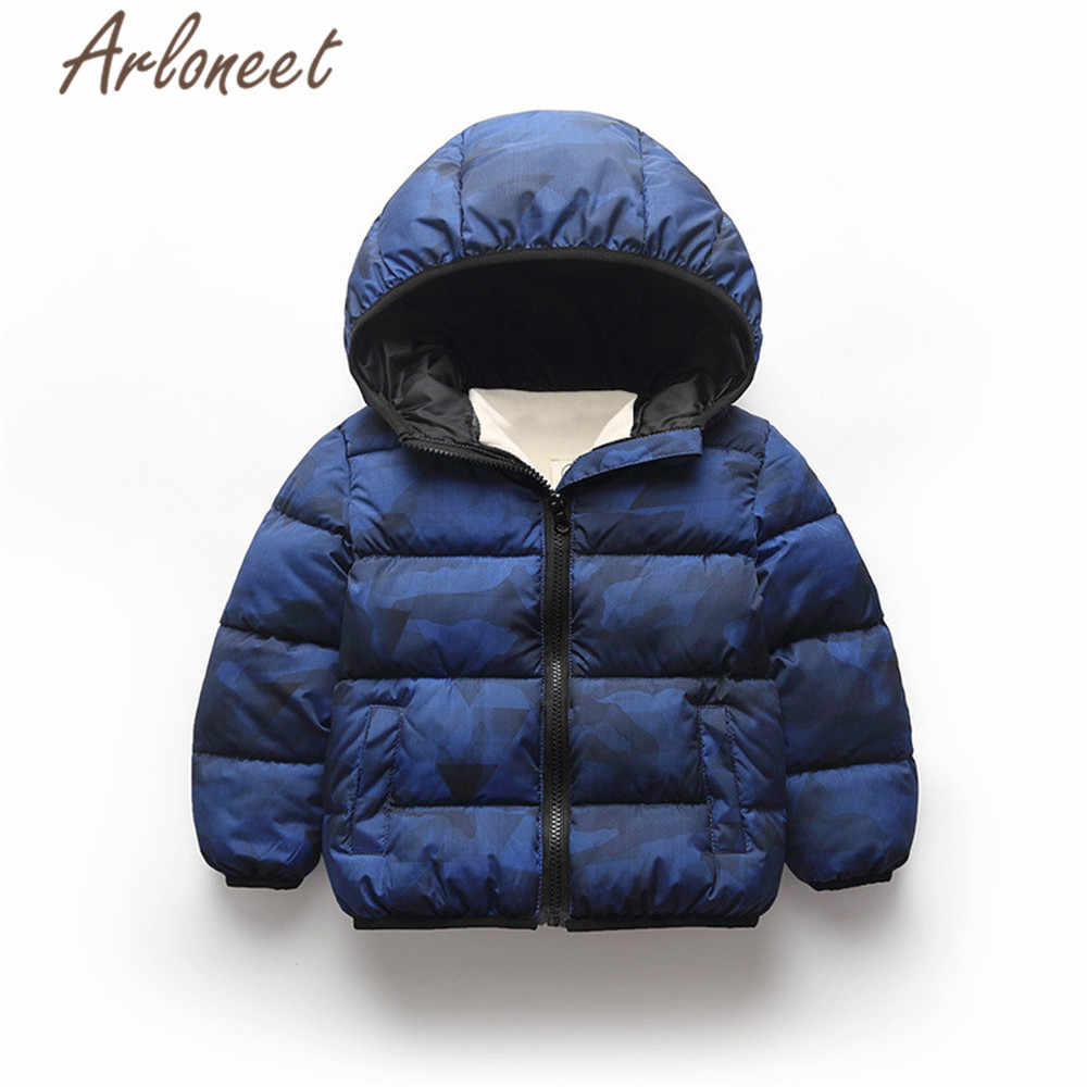 ARLONEET בגדי תינוק בנות סלעית מעיל בנים חורף עבה מעיל הדפסת מעיל הלבשה עליונה ילדי ילדי דובון Windproof הלבשה עליונה