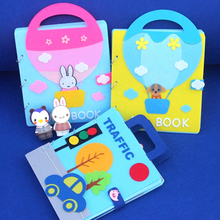 4 Style of Mom Handmade Sewing Cloth Book DIY Craft Kits Quiet Books Funny Felt Early Education Toys My First Book For Baby Gift carle eric my very first book of food