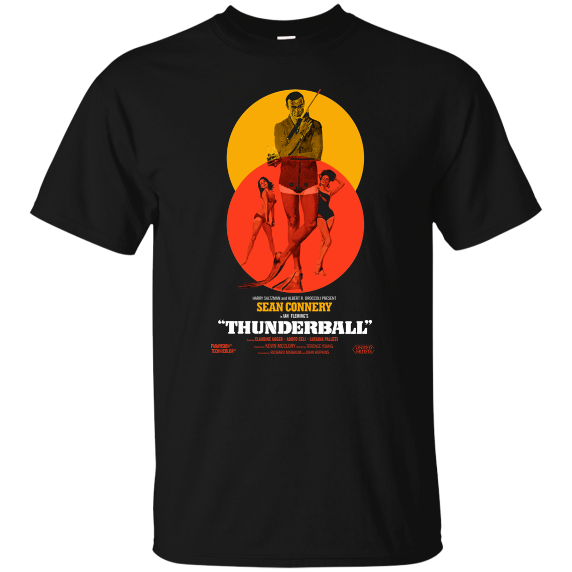 Thunderball James Bond <font><b>Sean</b></font> Connery Dr No Danish <font><b>T</b></font> <font><b>Shirt</b></font> image
