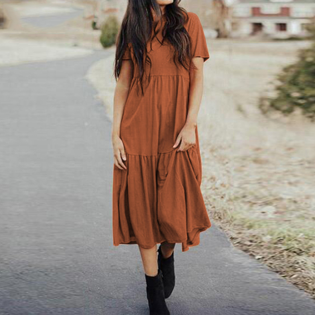 boho casual dress, loose and comfortable 2