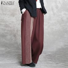 ZANZEA Women Wide Leg Pants Autumn Trous