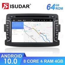 Isudar 1 Din Auto Radio Android 10 For Dacia/Sandero/Duster/Renault/Captur/Lada/Xray 2/Logan 2 Car Multimedia Player GPS DSP DVR