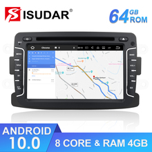 Rádio automático android 10 do ruído 1 para dacia/sandero/espanador/renault/captur/lada/xray 2/logan 2 reprodutor multimídia do carro gps dsp dvr