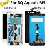 Bq aquaris m5 lcd 화면 터치 스크린 디스플레이 bq m5 digitzer 어셈블리 + 도구 bq m5 lcd 패널 tactil
