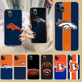 Denver Bronco American Football Phone Case cover For iphone 5 5S 6 6S PLUS 7 8 12 mini X XR XS 11 PRO SE 2020 MAX transparent image