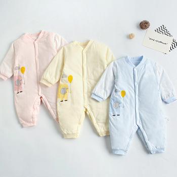 Jesień zima noworodek ubrania dla dzieci pajacyki dla dziewczynek chłopcy kombinezon kombinezony dla dzieci dla dzieci kostium dla niemowląt odzież dla niemowląt tanie i dobre opinie amnojane COTTON spandex CN (pochodzenie) Unisex W wieku 0-6m 7-12m 13-24m Stałe O-neck Pojedyncze piersi Pełna CTFS-4006395