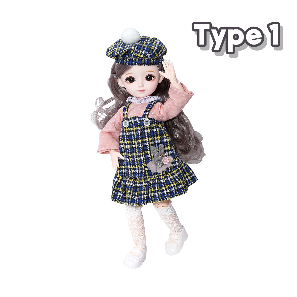New 1/6 12 Inch 31cm Bjd Doll 23 Joints Long Wig Plastic Toys Musical Doll Girls Children's Favorite Fashion Birthday Presents 7