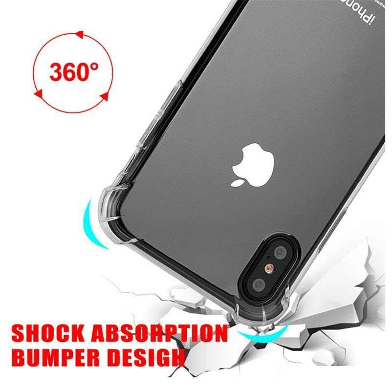 Ultra-Dunne Zachte Tpu Clear Crystal Case Voor Iphone 11 Pro Xr Xs Max 6 6S 7 8 plus Transparante Schokbestendig Airbag Bumper Cover