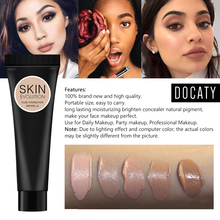 Korean Makeup Cosmetics Profissional Completa Full Coverage Concealer Oil-control Easy To Wear Soft Face Makeup Foundation Cream imagic base face liquid foundation cream full coverage concealer oil control easy to wear soft face makeup foundation with puff