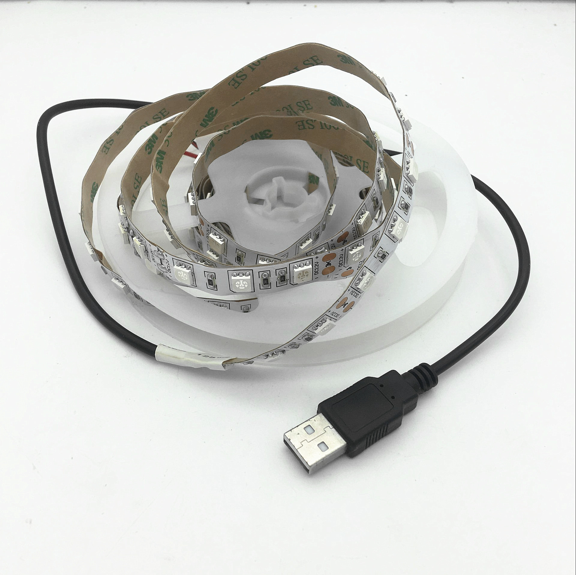 0.5m 1m 1.5m 2m 3m 5m <font><b>UV</b></font> Ultraviolet <font><b>LED</b></font> <font><b>Strip</b></font> Light Nowaterproof DC5V Flexible SMD 5050 30leds/m <font><b>LED</b></font> Diode Tape With USB Wiren image