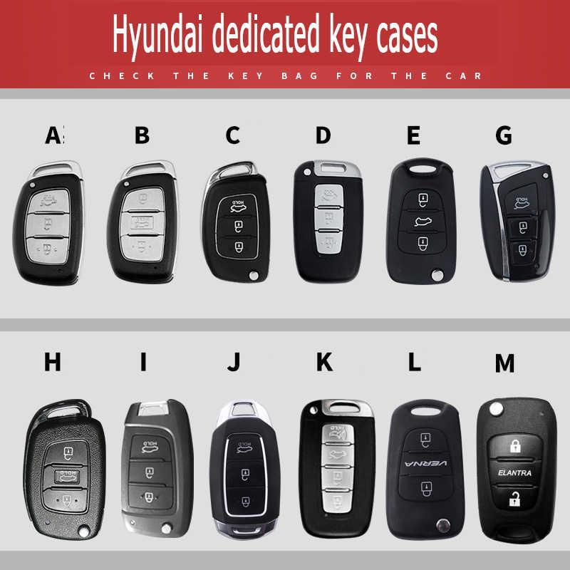 Özel Logo araba anahtarı durum için Hyundai Elantra Avante Sonata ix25 ix35 ACCENT TUCSON VERNA çinko alaşım anahtarlık koruyun set