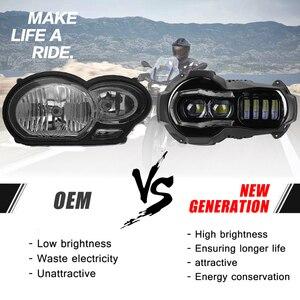 Image 2 - Yeni gelen! Motosiklet LED farlar projektör BMW R1200GS 2004 2012 R 1200GS ADV macera 2005 2013 Moto ışıkları montaj
