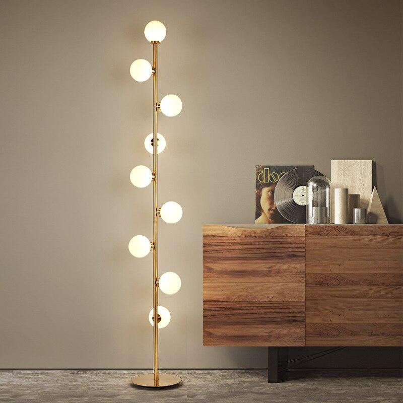 NIA Gold Sphere LED Floor Lamp