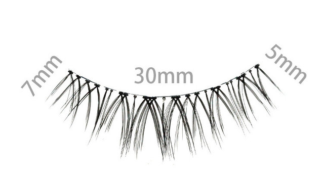 YOKPN Natural Sharpen False Eyelashes Cross-messy Thick Simulation Makeup Fake Eyelashes Imitation Grafting Effect Bride Lashes 5